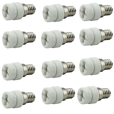 ราคาถูก อุปกรณ์เสริมหลอดไฟ-12pcs E14 ถึง G9 G9 อุปกรณ์เสริมหลอดไฟ / แปลง เซรามิก ซ็อกเก็ตหลอดไฟ