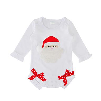 בנות כותנה מכנסיים - דפוס פפיון לבן / חמוד / חגים