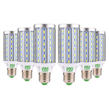 abordables Ampoules électriques-YWXLIGHT® 6pcs 25 W Ampoules Maïs LED 1400 lm E26 / E27 T 72 Perles LED SMD 5730 Décorative Blanc Chaud Blanc Froid 85-265 V