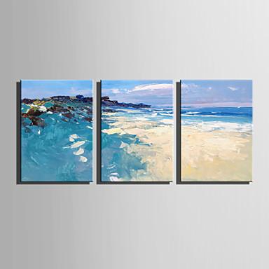 abordables Toiles-Imprimé Impression sur Toile - Abstrait Paysage Moderne Trois Panneaux Art Prints