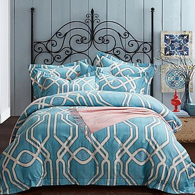 ensembles housse de couette formes g om triques 4 pi ces. Black Bedroom Furniture Sets. Home Design Ideas