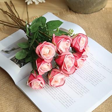פרחים מלאכותיים 5 ענף כפרי / סגנון מינימליסטי ורדים פרחים לשולחן