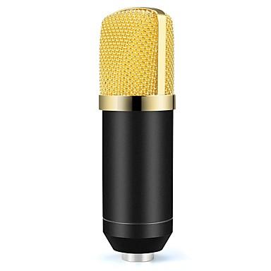 abordables Microphones-BM700 Câblé 3.5mm Câble Microphone Pièces d'Audio et de Vidéo Micro Microphone à Condensateur Microphone à Main Microphone Clip à Cravate
