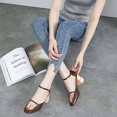 Cuir de Eté Printemps Chaussures Evénement amp; Talon 06601930 Femme Synthétique Marron Bottier Soirée Croûte Confort Sandales dqItYnwBn