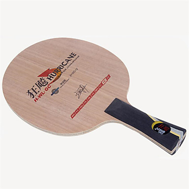 DHS® Hurricane H-WL-GC FL Ping Pang/מחבטי טניס שולחן לביש עמיד עץ סיבי פחמן 2 + GC + 2 1