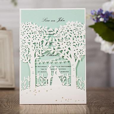 Wrap & kieszonkowy Zaproszenia ślubne 50 - Zaproszenia Klasyczny styl Wytłaczany papier Wytłaczany wzór