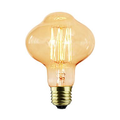 1pc 40W E26/E27 D80 K Glühbirne Vintage Edison Glühbirne Wechselstrom 220-240V V