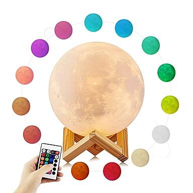 YouOKLight 1set Moon 3D Nightlight RGB USB Atmosphere Lamp Creative Novelty