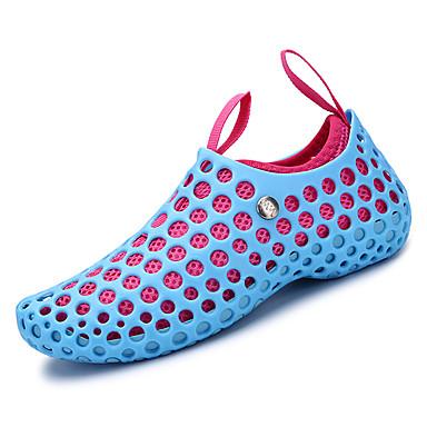 בגדי ריקוד נשים נעליים מיקרופייבר PU סינתטי אביב / סתיו נוחות נעליים ללא שרוכים שטוח בוהן עגולה שחור / כתום / כחול