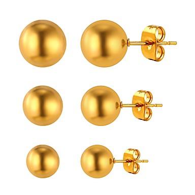 בגדי ריקוד נשים עגילים צמודים - ציפוי זהב פשוט, אופנתי זהב / כסף עבור יומי / פגישה (דייט)