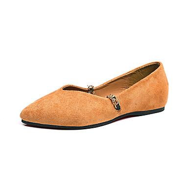 Women's Shoes PU(Polyurethane) Fall / Winter Comfort / Combat Boots Boots Flat Heel Round Toe Black / Dark Brown