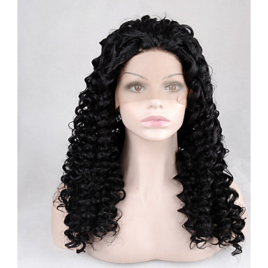 8A Mongolian Kinky Curly Lace Front Human Hair Wigs