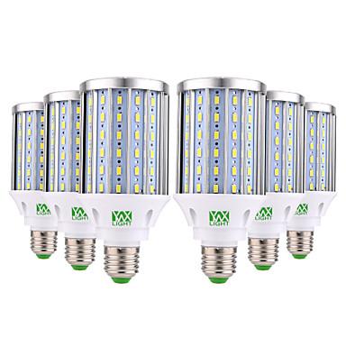 abordables Ampoules électriques-YWXLIGHT® 6pcs 35 W Ampoules Maïs LED 3500 lm E26 / E27 108 Perles LED SMD 5730 Décorative Blanc Chaud Blanc Froid Blanc Naturel 85-265 V