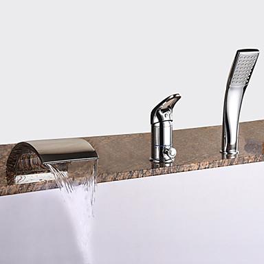Grifo de bañera - Modern Cromo Bañera romana Válvula Cerámica