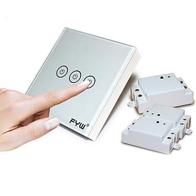 Mądry przełącznik Zdalnie sterowana / Wymienna bateria / Elastyczny 1 opakowanie Szkło hartowane / Ognioodporny Pilot