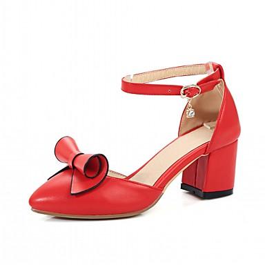Nouveauté Femme Talons Automne Confort Bout pointu Similicuir Noir Chaussures Noeud Chaussures Printemps 06599692 Blanc Bottier à Talon 8rqwfArXn