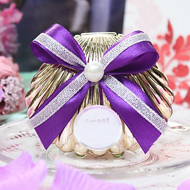 povoljno Kutijice za svadbene poklone-Školjka plastika Naklonost Holder s Satin Bow Milost Kutije - 1pc