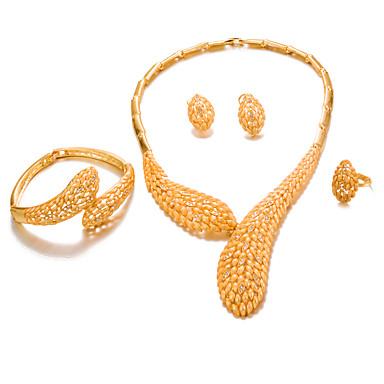 בגדי ריקוד נשים סט תכשיטים - ציפוי זהב אופנתי, הצהרה לִכלוֹל זהב עבור חתונה / Party