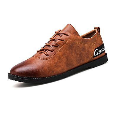 Homens sapatos Couro Ecológico Primavera / Verão Conforto Tamancos e Mules Preto / Cinzento / Castanho Claro