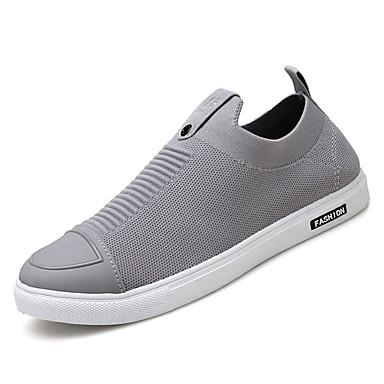 בגדי ריקוד גברים גומי אביב / סתיו נוחות נעלי ספורט שחור / אפור / אדום