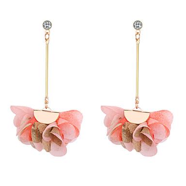 fa5c980da Women's Chandelier Long Drop Earrings Earrings Floral / Botanicals Flower  Ladies European Fashion Jewelry Purple / Yellow / Pink For Causal Daily