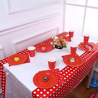 מסיבת יום הולדת מפלגה כלי שולחן - ראנרים לשולחן מנוקד פלסטיק נושא קלאסי