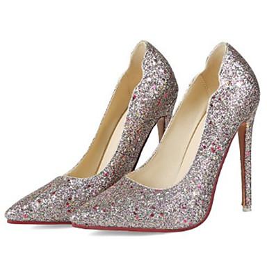 Brillante Talon Chaussures Paillette Talons Printemps 06600743 Chaussures Nouveauté Blanc Confort Bottier à Femme pointu Automne Noir Bout nvEBwxqR