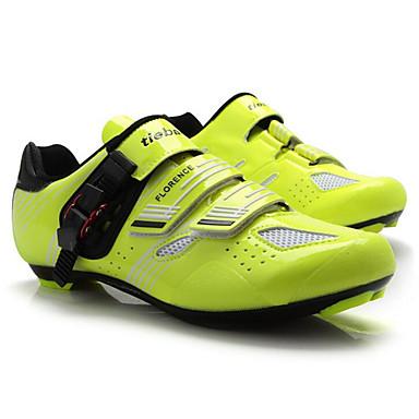 رخيصةأون أحذية ركوب الدراجة-Tiebao® Road Bike Shoes ألياف الكربون مكافح الانزلاق ركوب الدراجة أسود / أصفر رجالي أحذية الدراجة / هوك وحلقة