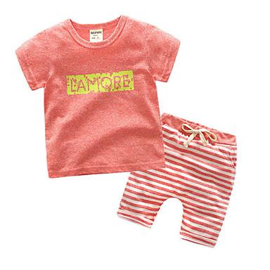 Brzdąc Dla chłopców Solidne kolory Krótki rękaw Komplet odzieży / Śłodkie