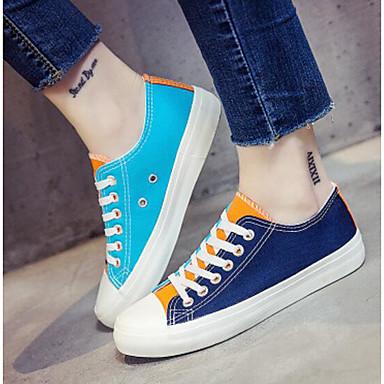 Azul Zapatillas Confort Tela Naranja deporte Primavera Mujer Tacón Zapatos Otoño Bajo Blanco 06627764 de I7qffX