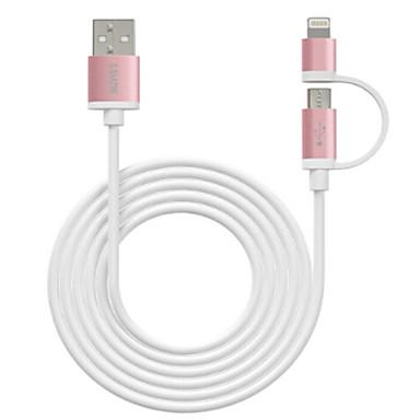 Oświetlenie Adapter kabla USB Wysoka prędkość / Szybka opłata Kable Na iPhone 100 cm Na TPE