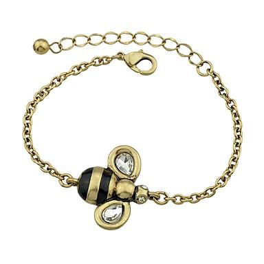 Damskie Bransoletki i łańcuszki na rękę - Pszczoła Vintage, Podstawowy Bransoletki Złoty Na Randka Ulica