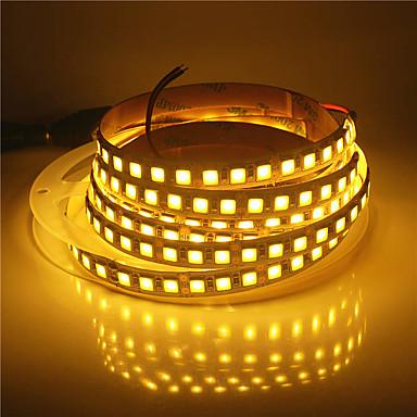 5 m Elastyczne taśmy LED 600 Diody LED Ciepła biel / Zimna biel Nadaje się do krojenia / Dekoracyjna / Samoprzylepne 12 V 1 szt.