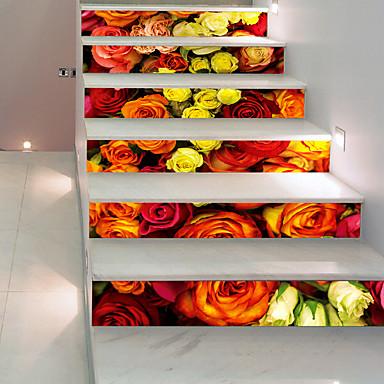 Naklejki podłogowe - Naklejki ścienne 3D Kwiatowy / Roślinny / 3D Salon / Sypialnia / Łazienka
