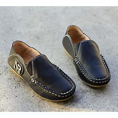 74cd7c290d Para Meninos Sapatos Pele Primavera   Outono Conforto   Mocassim Mocassins  e Slip-Ons para Branco   Preto   Amarelo
