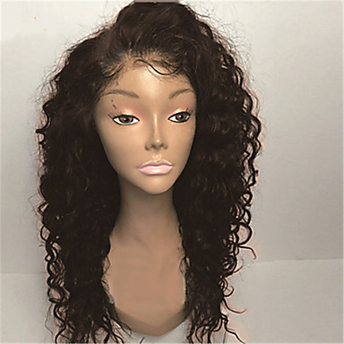 cheap Human Hair Wigs-8a 8-30inch Human Hair glueless lace front wigs curly natural black color brazilian human hair lace wigs for women with baby hair natural hairline Bleached Knots