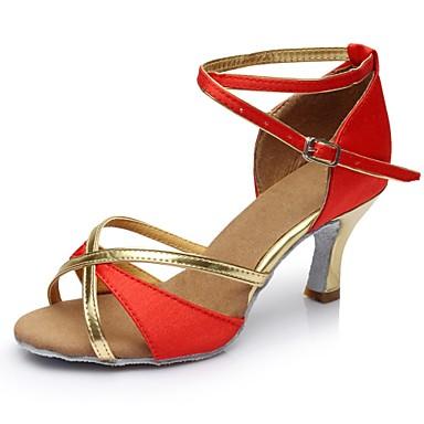 messieurs et de mesdames les chaussures de et latine satin sandale / talon torché talon personnalisable souliers de danse noir / Marron  / rouge Hommes ant de la mode 1087e0