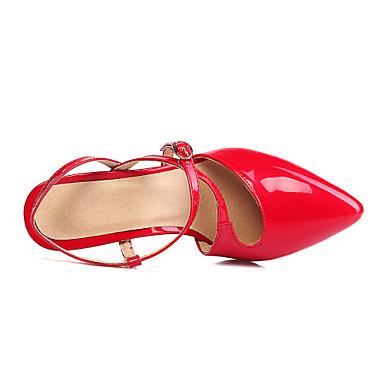 Femme Chaussures Cuir Verni Eté Eté Eté / Automne Confort / A Bride Arrière  s Talon Aiguille Bout pointu Boucle Noir / Rouge / Amande   Bonne Réputation Over The World  c52261