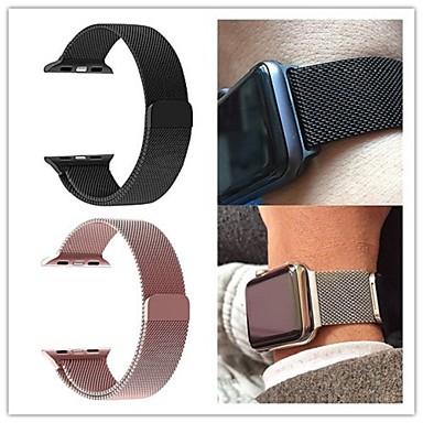 Pulseiras de Relógio para Apple Watch Series 4/3/2/1 Apple Pulseira Estilo Milanês Aço Inoxidável Tira de Pulso