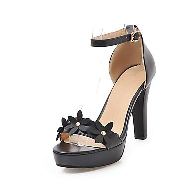Talon à Eté Bottier Escarpin Femme Chaussures Basique Similicuir Printemps ouvert 06628036 Bout Talons Chaussures Gladiateur Noir Blanc Ufwnq8vP