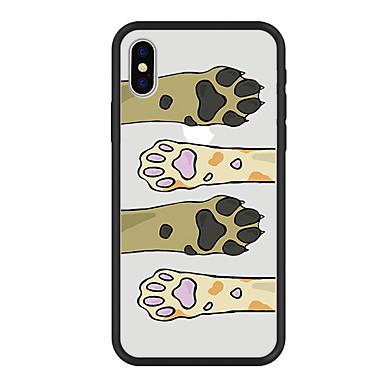 hesapli iPhone Kılıfları-Pouzdro Uyumluluk Apple iPhone X / iPhone 8 Plus / iPhone 8 Temalı Arka Kapak Kedi / Köpek / Karton Sert Arkilik