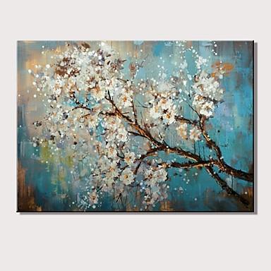 Hang oslikana uljanim bojama Ručno oslikana - Pejzaž Cvjetni / Botanički Moderna Bez unutrašnje Frame / Valjani platno