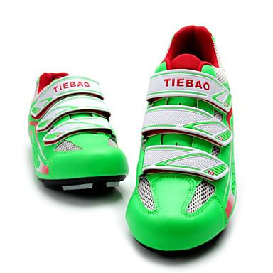 Tiebao® Buty na rower szosowy Włókno węglowe Antypoślizgowy, Zdatny do noszenia Kolarstwo Zielony Męskie / Oddychająca siateczka / Haczyk
