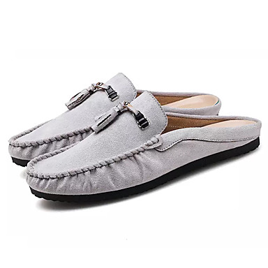 Męskie Komfortowe buty Kaszmir Lato Chodaki i klapki Szary / Czerwony / Khaki