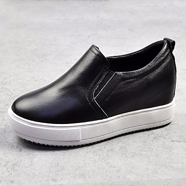 Cuir et Plat Chaussures 06627733 Confort D6148 Noir Printemps Blanc Chaussons Talon Femme Automne Mocassins 45RFRqp