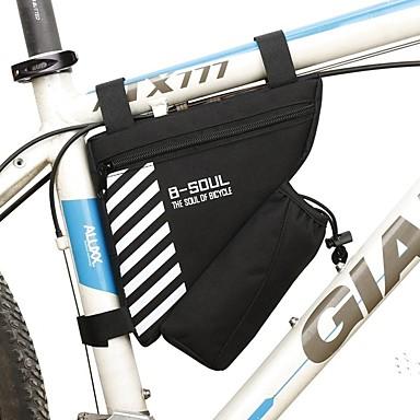 billige Sykkelvesker-1.8 L Vesker til sykkelramme Innebygd Kjele Veske Anvendelig Holdbar Sykkelveske Terylene Sykkelveske Sykkelveske Sykling / Sykkel