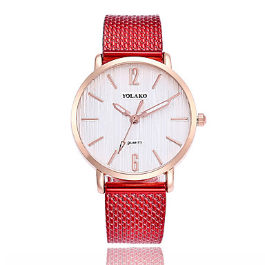 cheap Women's Watches-Women's Fashion Watch Quartz Black / White / Blue Casual Watch Analog Ladies Colorful Minimalist - Red Green Pink