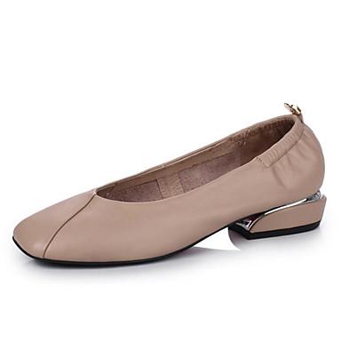 Ballerines Chaussures Femme Automne PU Confort Printemps Talon Noir microfibre 06648326 Amande de Plat synthétique 8FFrnxa