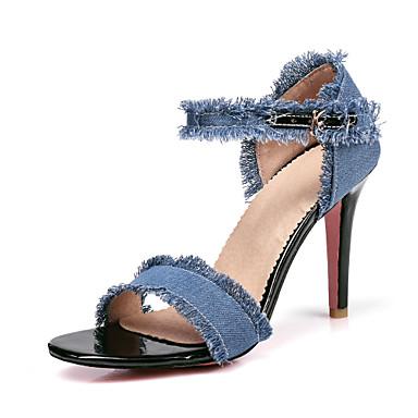 Hombre Zapatos Vaquero Verano Confort Sandalias Negro / Rojo i6hf1JSZj