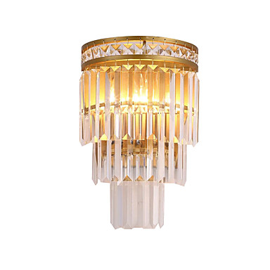 QIHengZhaoMing קריסטל מנורות קיר סלון / משרד מתכת אור קיר IP20 110-120V / 220-240V 3W
